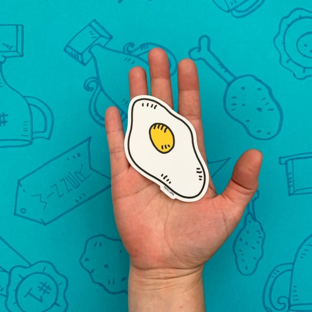 "Fried Egg 3"" Sticker"
