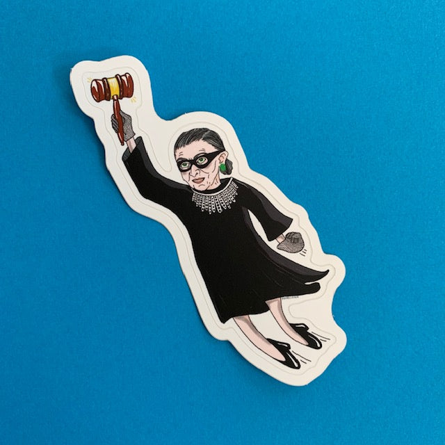 "RBG Superhero 4""Sticker"