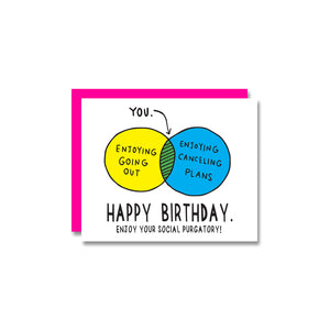Venn Diagram Birthday Card