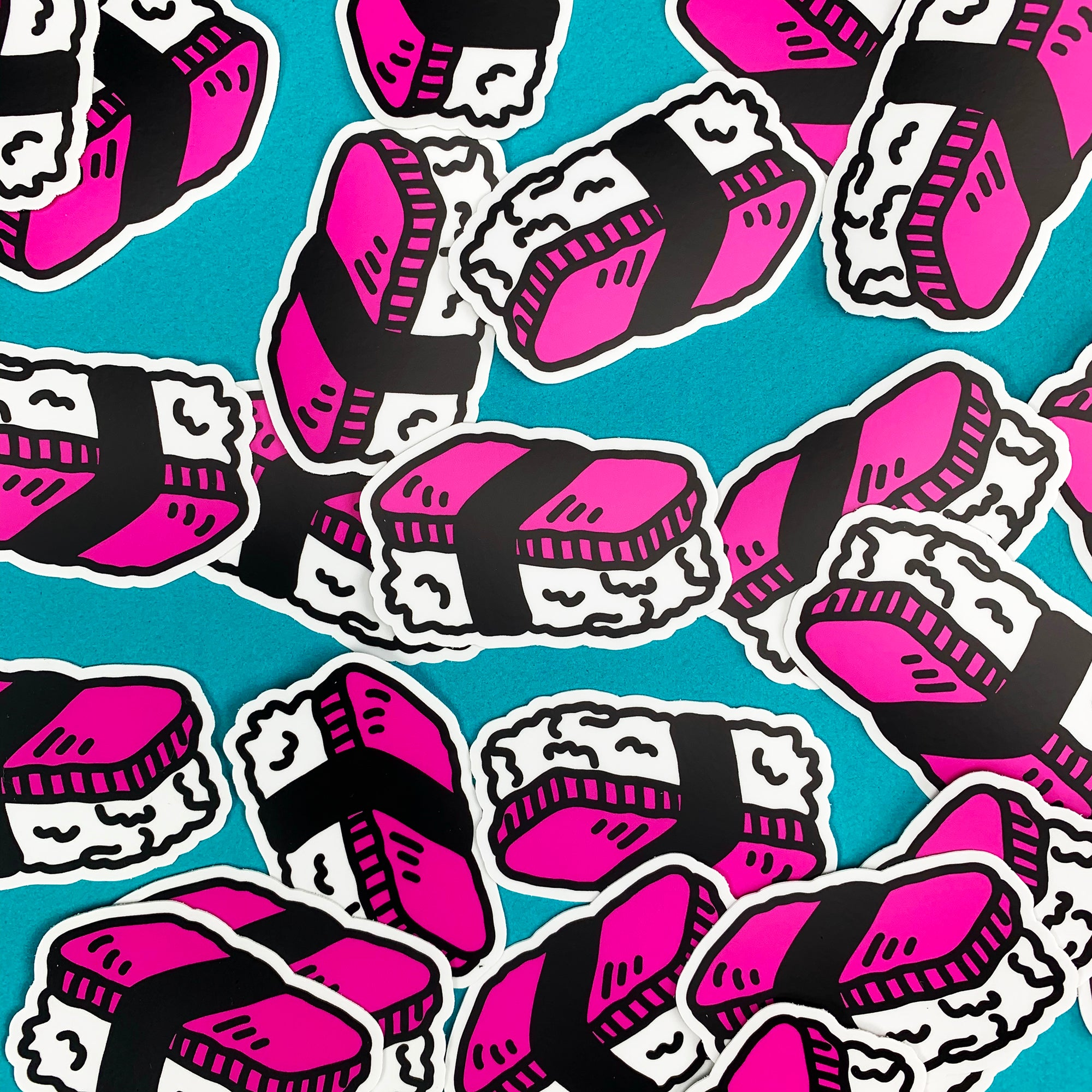 "Spam Musubi Sushi 3"" Sticker"