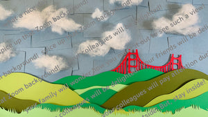 Golden Gate Bridge Image for Zoom Background- Digital Download