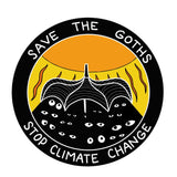 "Stop Climate Change, Save the Goths 3""Sticker"