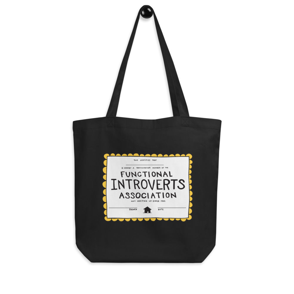 Functional Introvert Certificate Eco Tote Bag