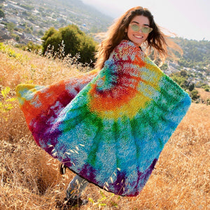 Road Trippin' with the Tie Dye SHAG Blankets!