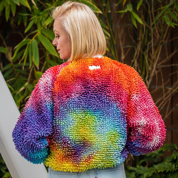 Limited Edition Rainbow Tie Dye SHAGBOMB Jacket
