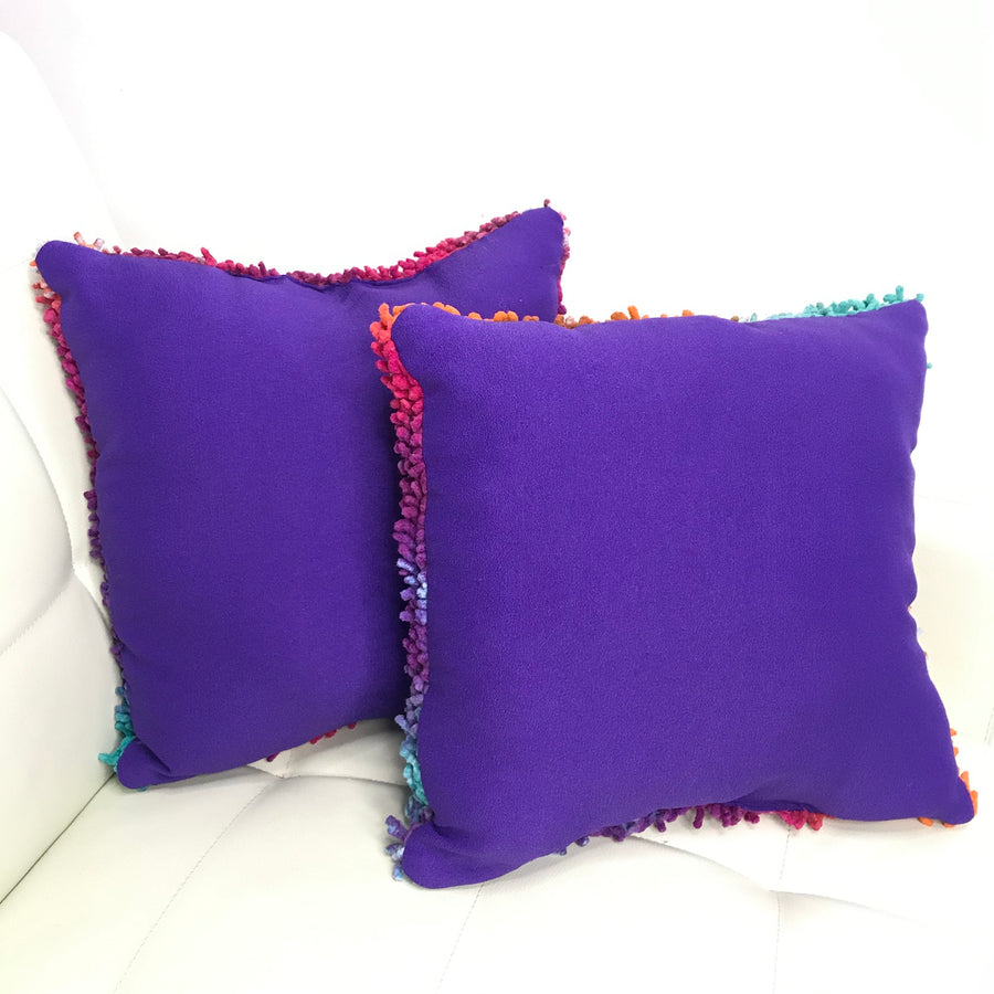 Set of SHAG Throw Pillows