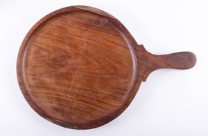 "10"" Wooden Platter Round with Handle"