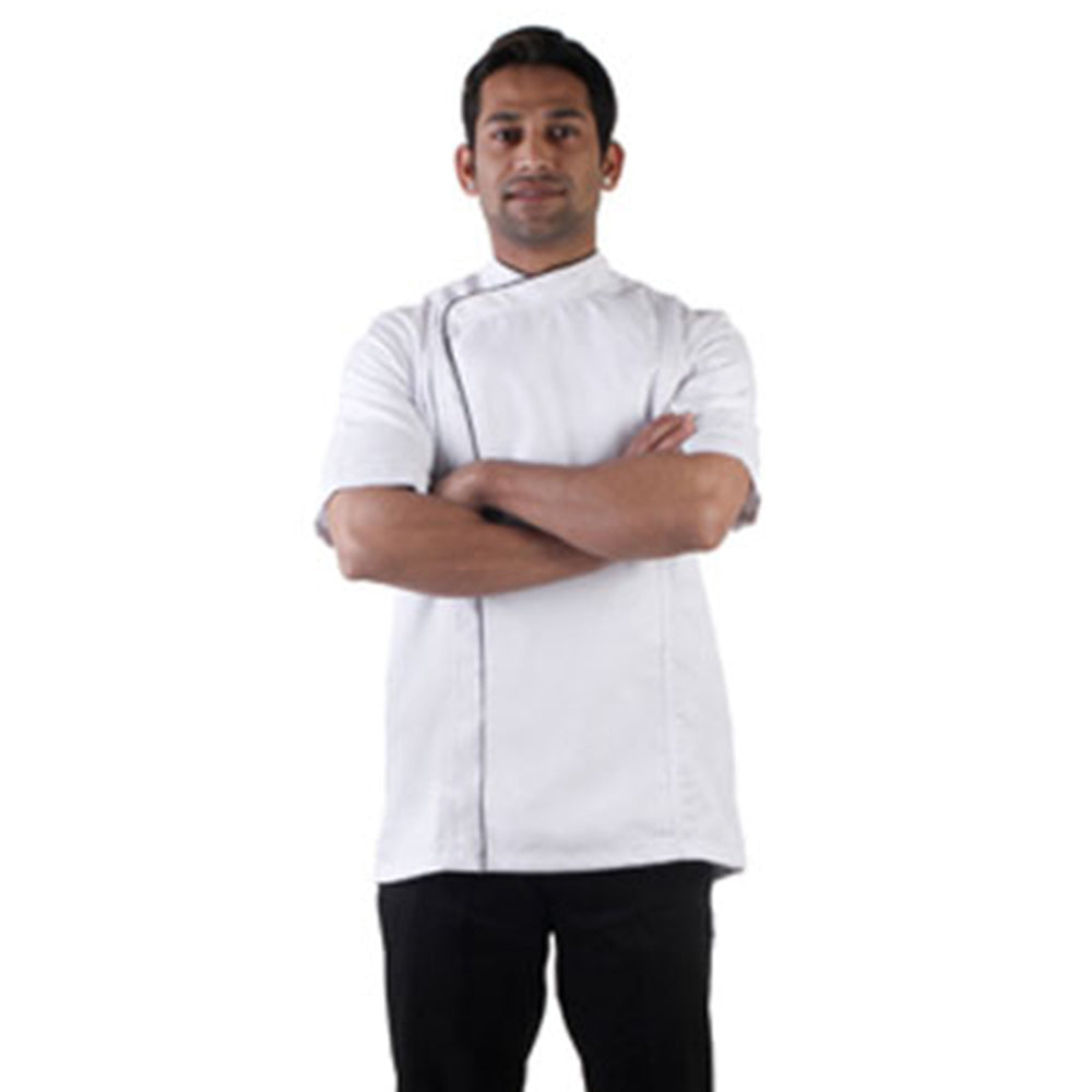 White Chef Coat Snap Front Closure, The Cross Collection