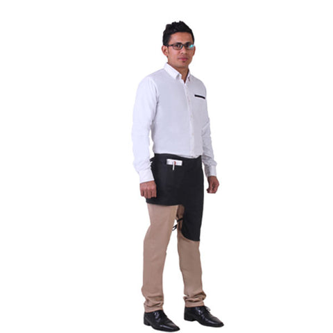 One Leg Apron With Pocket, Black, FNBFleet