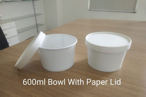 600 ML Paper Container with Lid