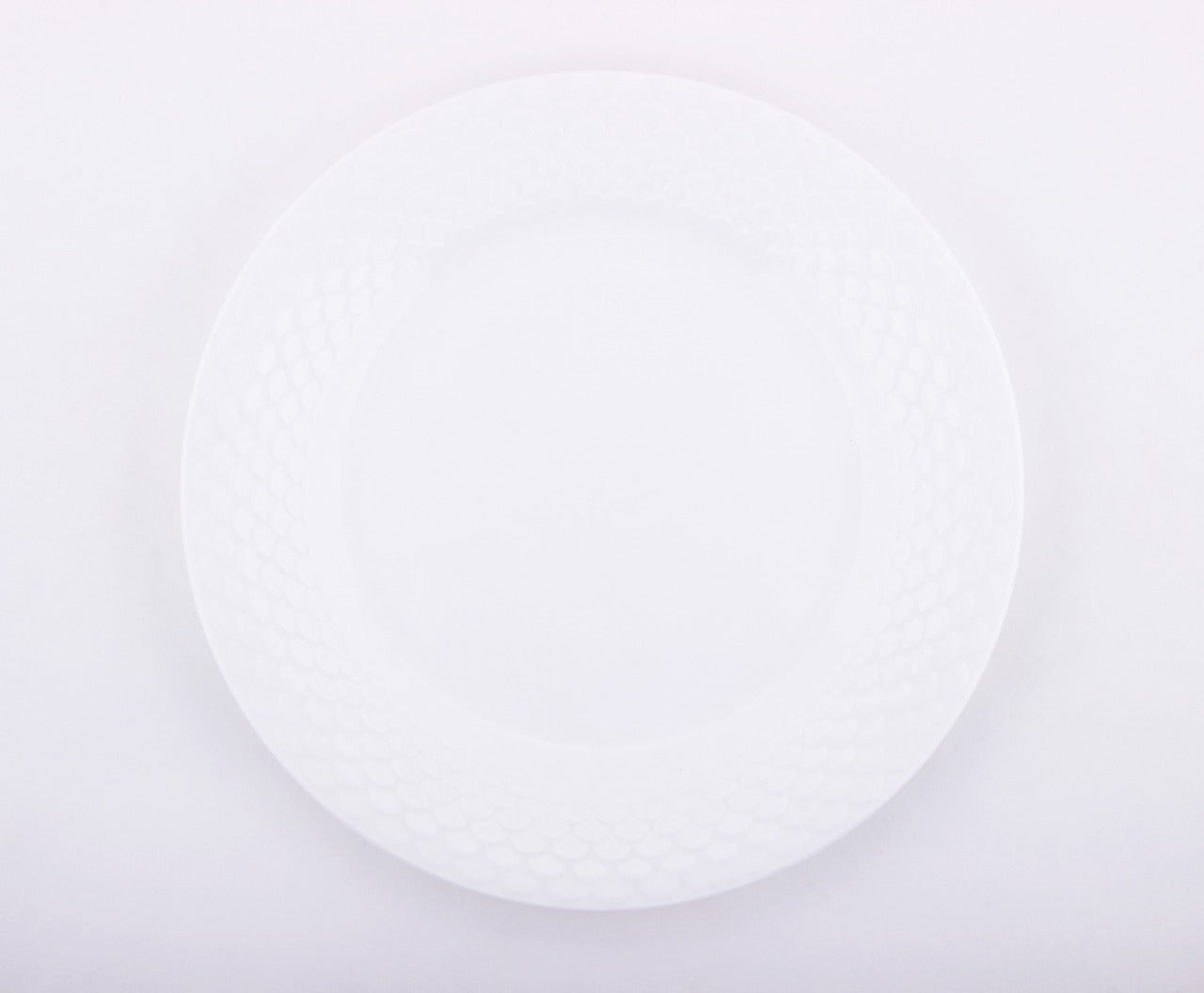 Checkers Plate,11 inches, Bone China, Clay Craft,Set of 12