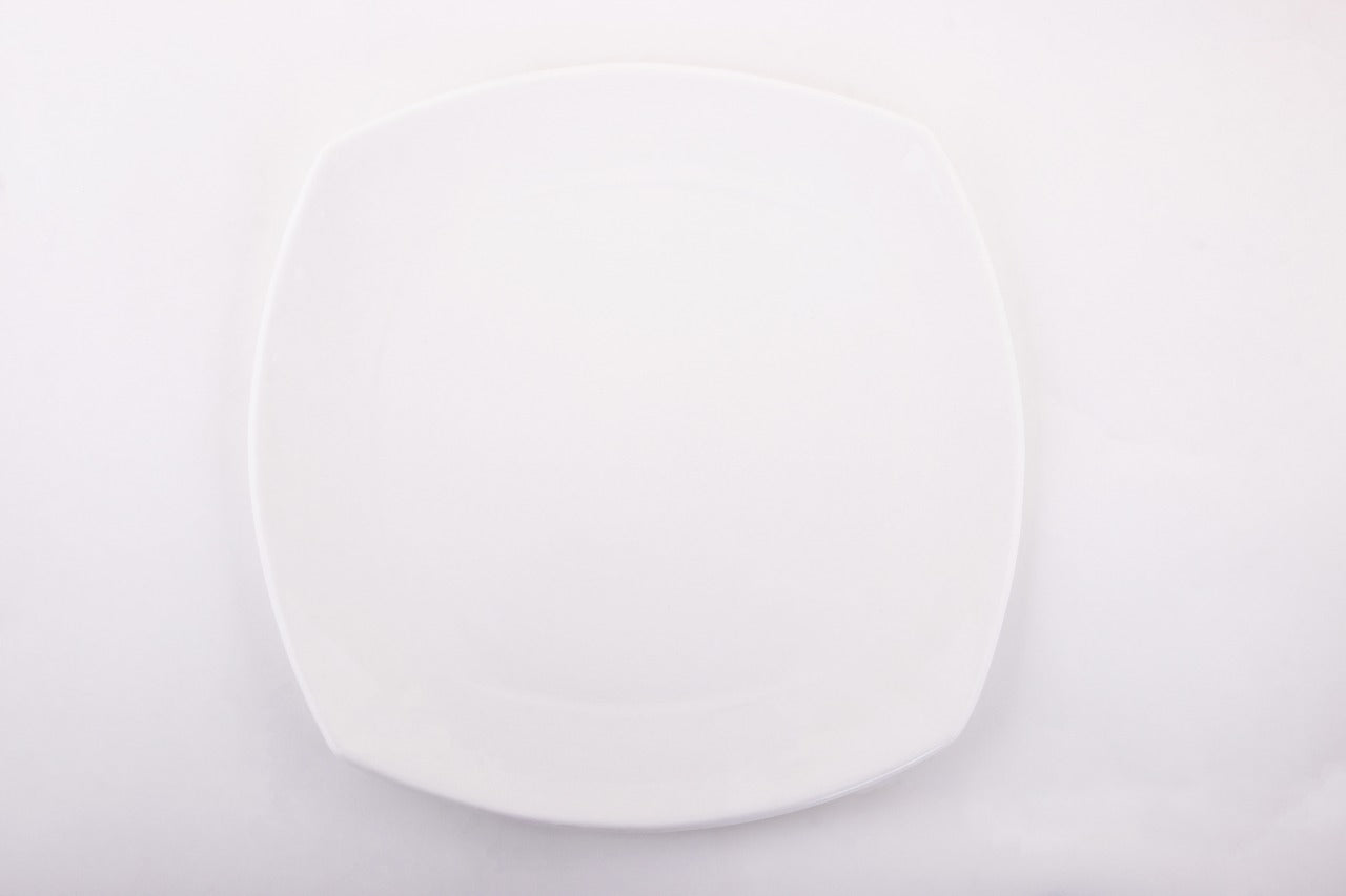 Zen Plate,10 inches,Bone china,Clay Craft,Set of 12