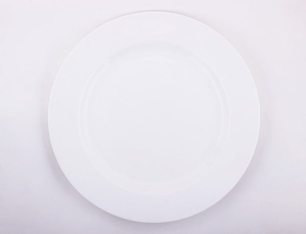 Diamond Georgian Plate,10.5 inches,Bone China,Clay Craft,Set of 12