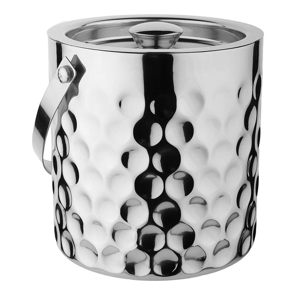 Stainless Steel, Double Wall, Ice Bucket, Coin Design, Set of 2 PCS