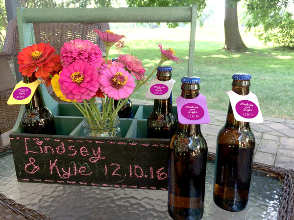 Bottle ID Tags Personalized 250 Qty