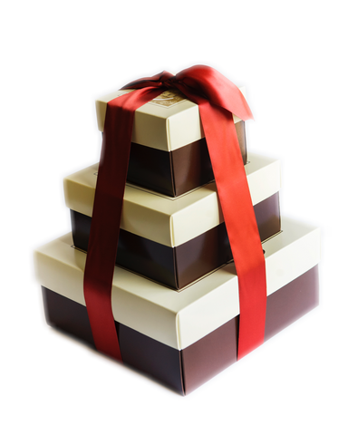 3 1/2 lb Toffee Tower - Holiday Ribbon