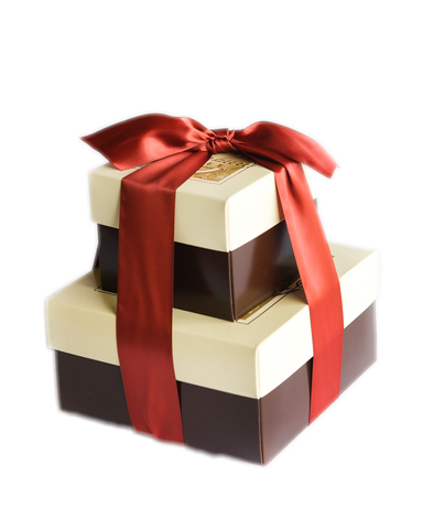 1 1/2 lb Toffee Tower - Holiday Ribbon