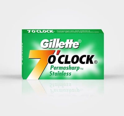 Gillette 7 O'clock Super Stainless Double-Edge Razor Blades (Green) - 5 Blade Pack