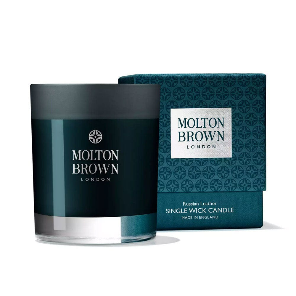 Image of Molton Brown Russian Leather Single Wick Candle