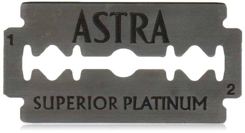Astra Superior Platinum Double-Edged Safety Blades -- 5 Blade Pack