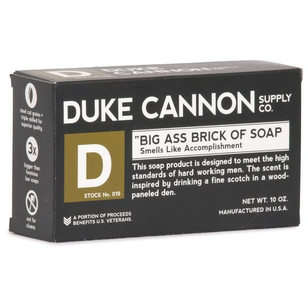 Duke Cannon Supply Co. Big Ass Brick of Soap - Black (Black Pepper)