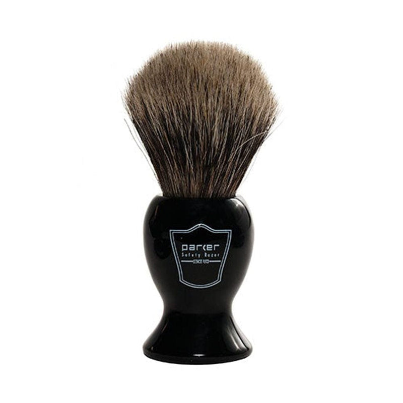 Parker Black Handled Pure Badger Shaving Brush