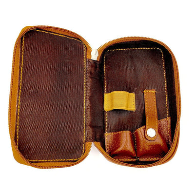 Parker Leather Travel Case For Safety Razor and Blades