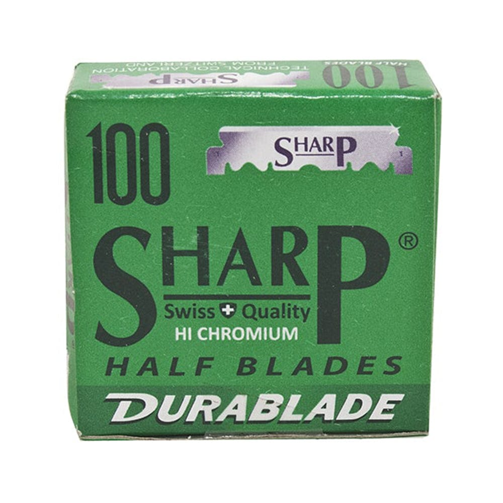 Sharp Stainless Steel Half Blades -- 100 Blades