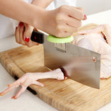 Creative Kitchen Accessories Bone Cutting Aid Kitchen Gadgets Assist Cut Bones Meat Knife Holder Cap Kitchen Supplies Tools
