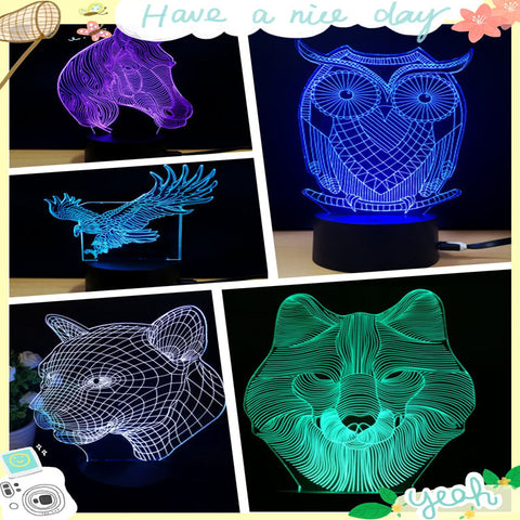gadgets LED Light baby souvenir gifts Touch Switch gadgets electronicos colorful 3D Acrylic Light for Home Office for KTV club
