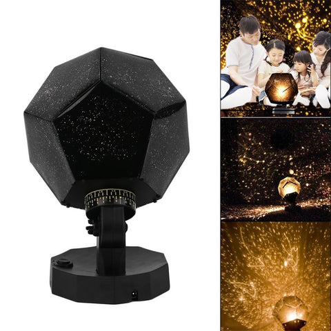 USB Light Romantic Gadgets Astro Star Sky Cosmos Lamp Starry Romantic Lighting Gadgets Light 4x batteries Projector LED Bulbs