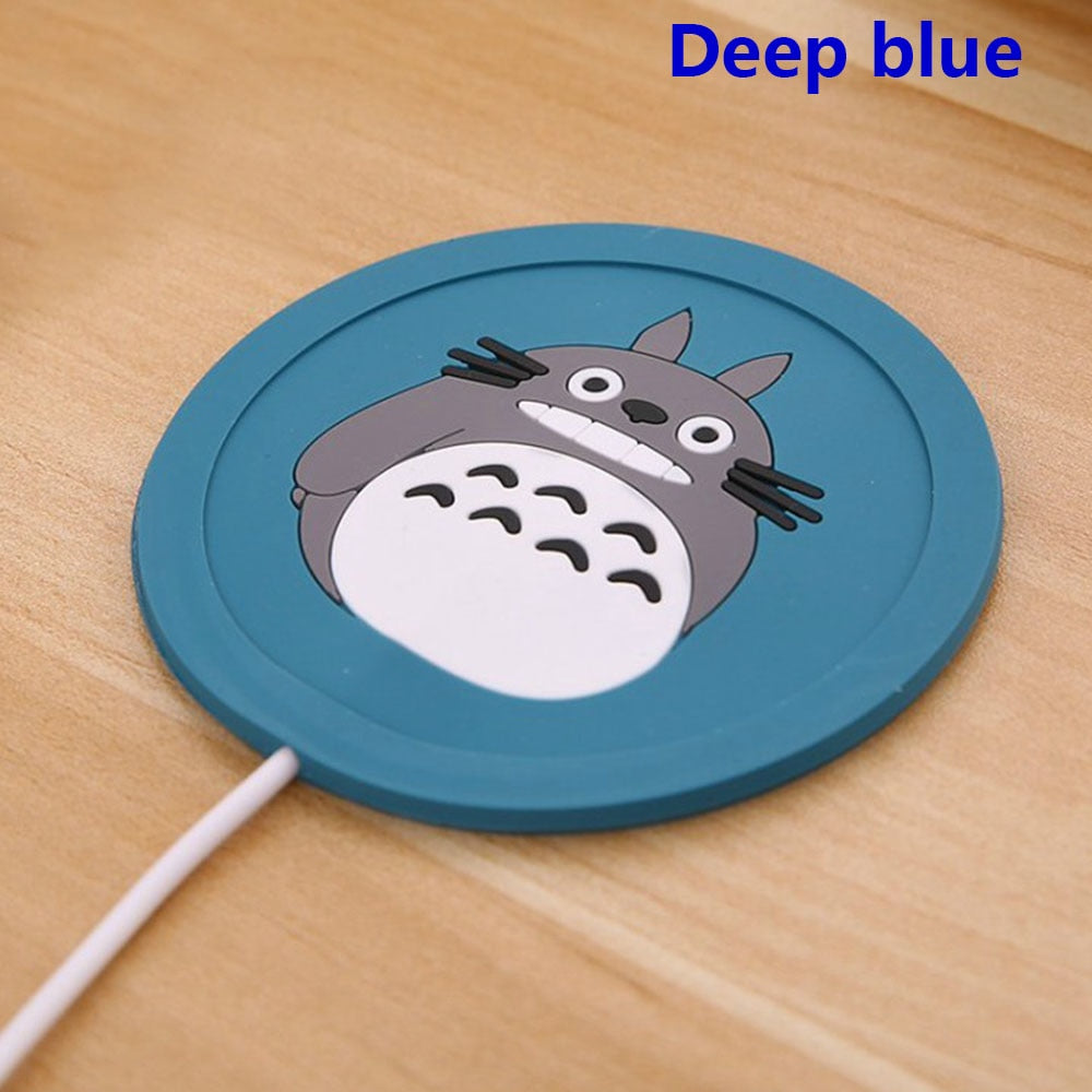 1 Pc USB Cup Pad Cartoon Silicone Warmer Coffee Tea Drink usb Heater Tray cup mat Gadgets