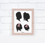 Silhouettte Portrait - White Background