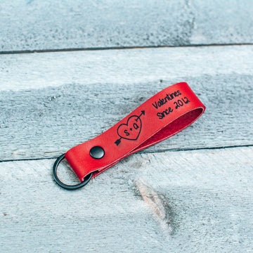 Special Edition Valentines Gift - Personalized Leather Keychain
