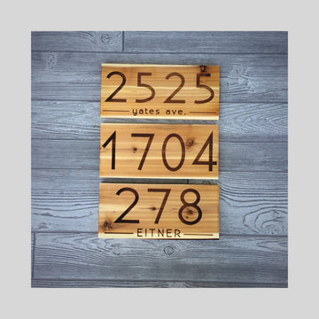 CEDAR WOOD SIGNS - ADDRESS | HOME DECOR
