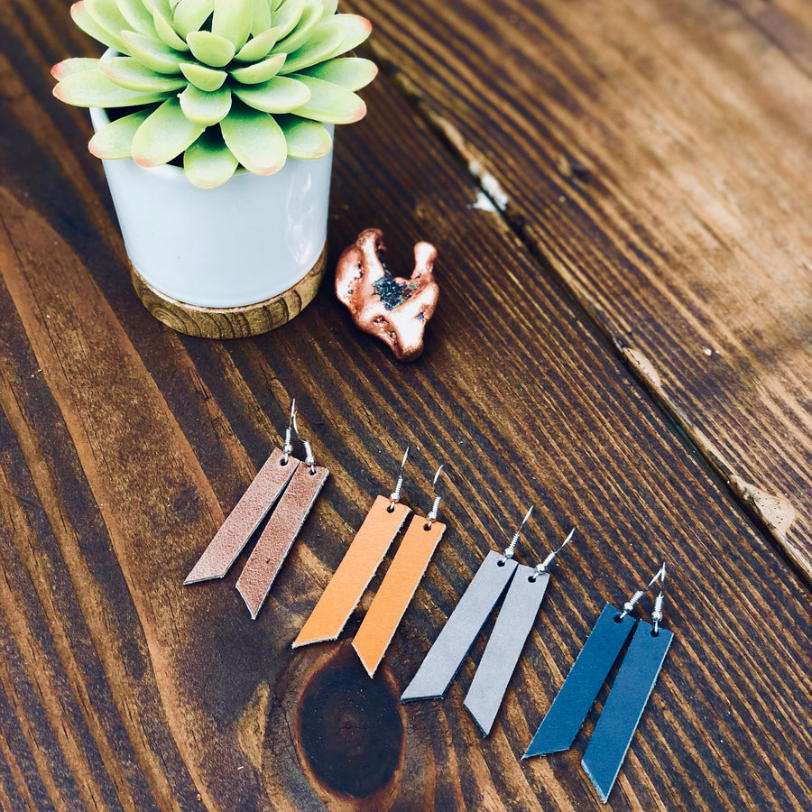 Leather Earrings - Handmade