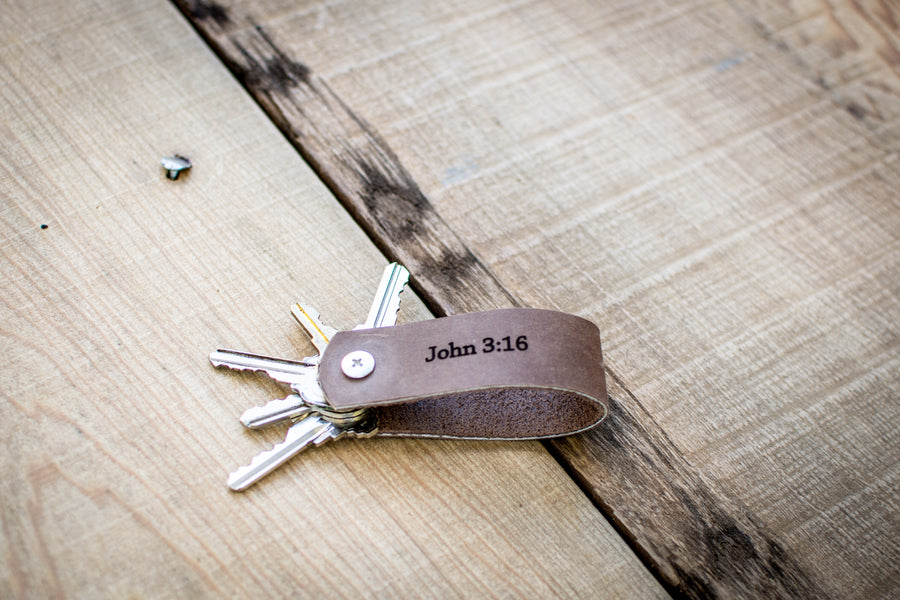 Personalized Leather Keyhider keychain