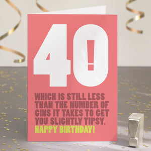 Funny Ridiculous 40th Birthday Card