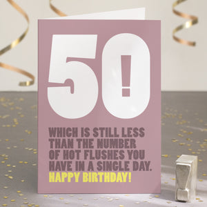 Funny Ridiculous 50th Birthday Card