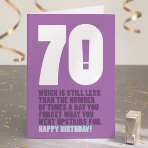 Funny Ridiculous 70th Birthday Card
