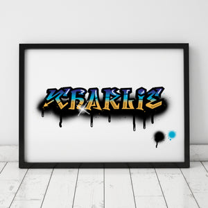 Graffiti Name Print – Charlie / SAMPLE
