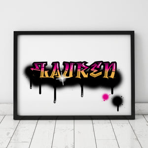 Graffiti Name Print – Lauren / SECOND