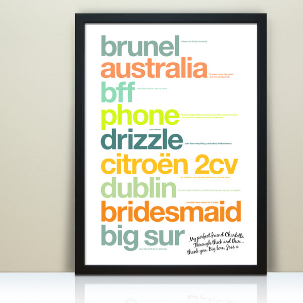 Personalised Best Friend Print