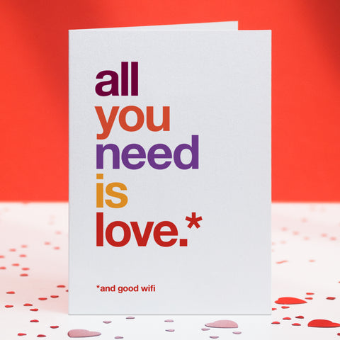 'And Good Wifi' Funny Love Card / SECOND