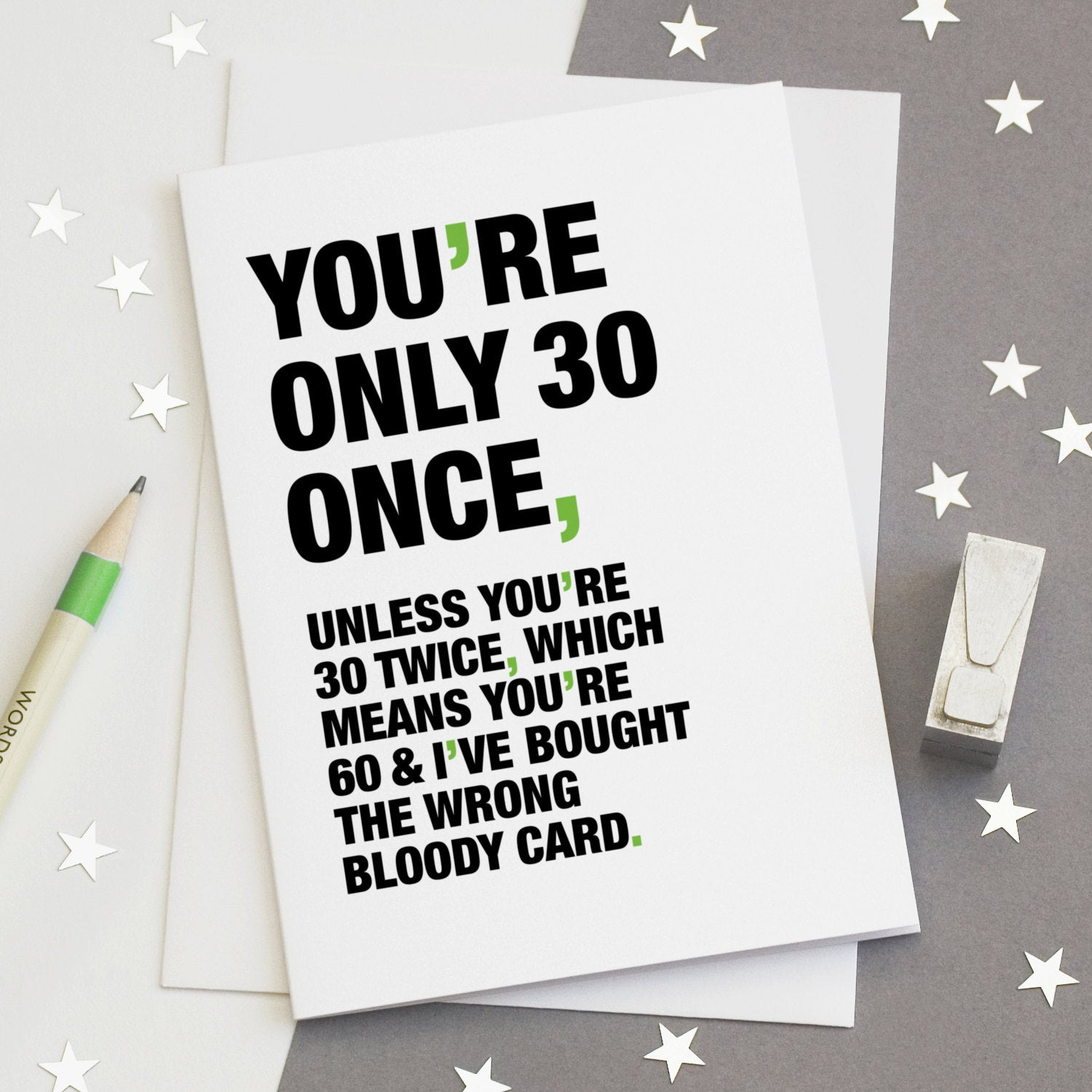 Funny Quote 30th Birthday Card