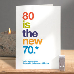 Funny 80th Birthday Card