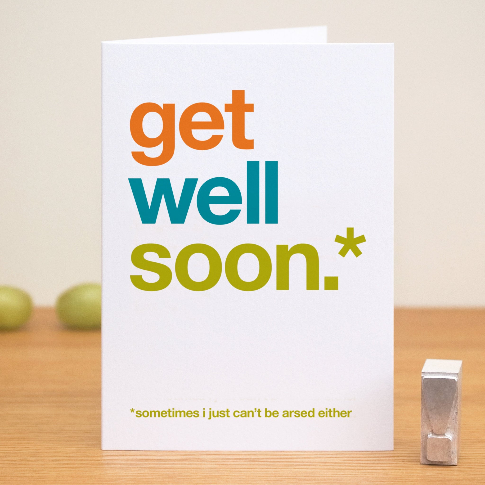 Funny 'Get Well Soon' Card