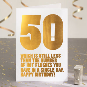 Gold Foil Funny 50th Birthday Card