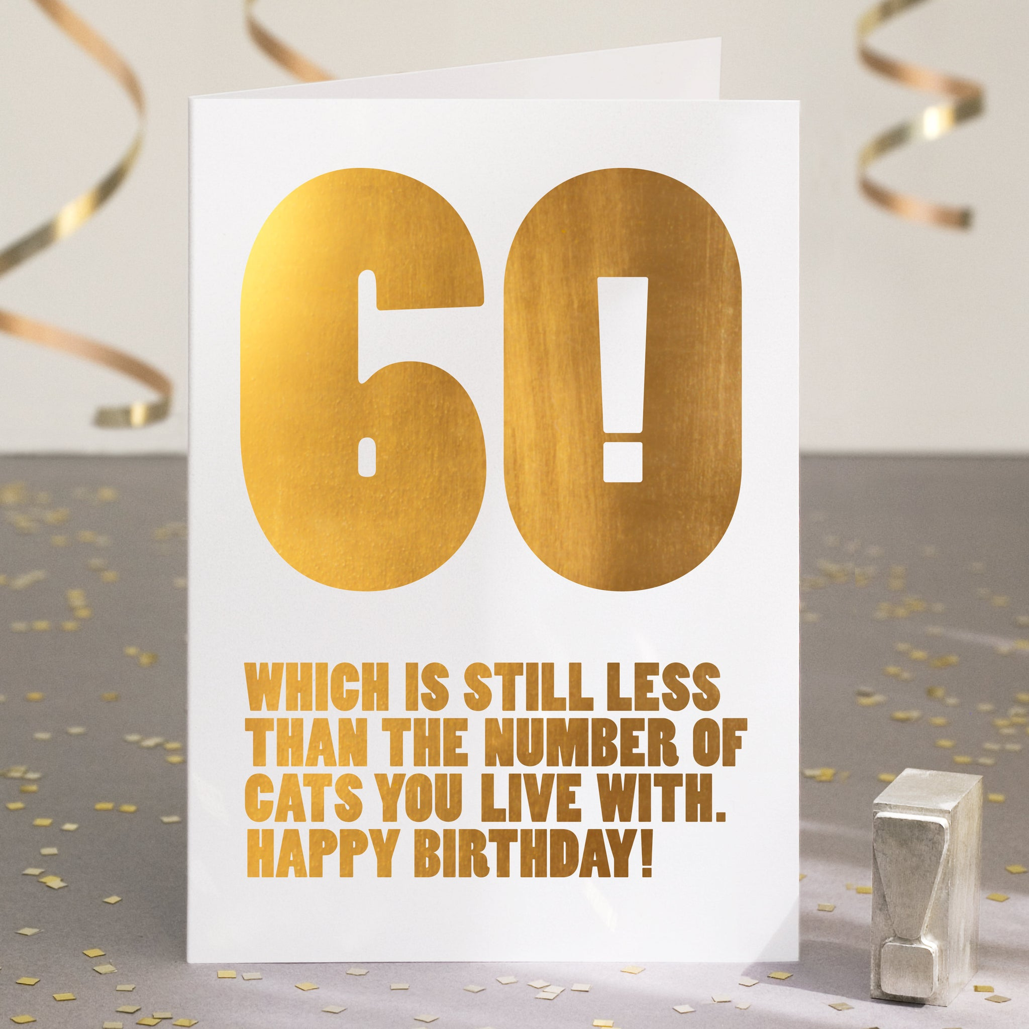 Gold Foil Funny 60th Birthday Card