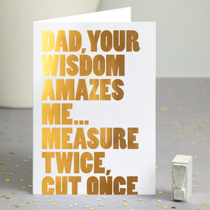 Gold Foil Funny DIY Card For Dad / SECOND